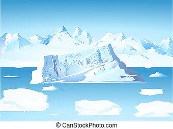 glaciar, iceberg