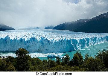glaciar, magnífico, perito, moreno, argentina., vista