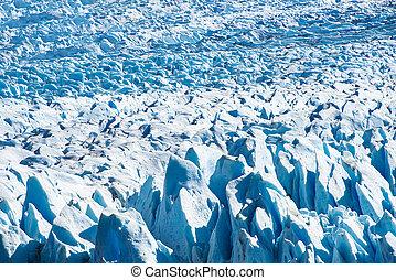 glaciar, moreno, detalle, argentina, perito