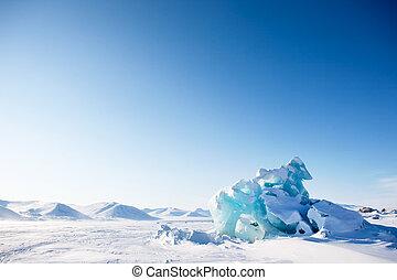 glaciar, paisaje