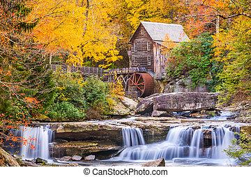 Glade Creek Gritmill en otoño