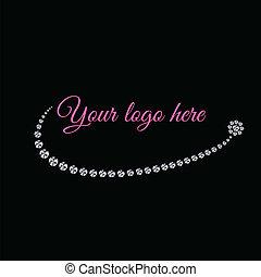 Glamoroso, logotipo de diamantes