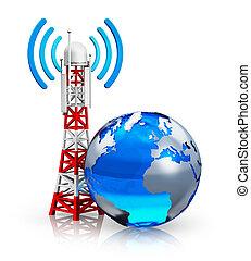 global, concepto, telecomunicaciones
