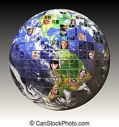 global, gente, red