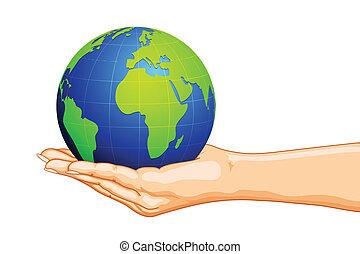 Globe a mano