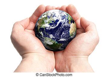 Globe en manos