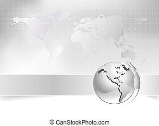 Globe, mapa mundial, concepto de negocios
