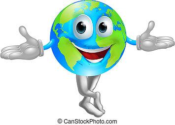 Globe mundial de mascota