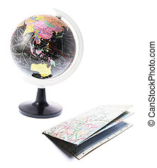 Globe y mapa callejero