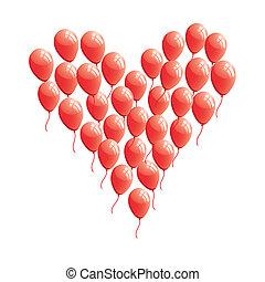 Globo cardíaco abstracto rojo
