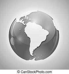 Globo con ilustración de vectores de correo