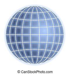 globo, cuadrícula