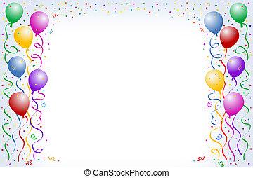 globo, cumpleaños