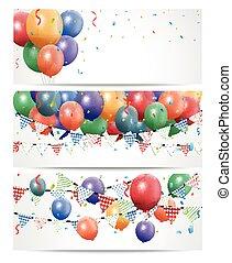 Globo de cumpleaños colorido en blanco