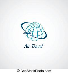 Globo de icono de avión