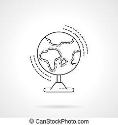 Globo de línea plana de diseño vector icono