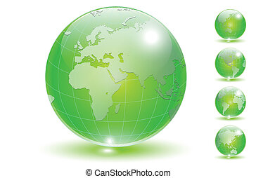 globo de la tierra, conjunto, vector.