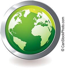 globo de la tierra, verde, icono