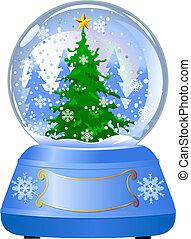 Globo de Nieve con un árbol de Navidad