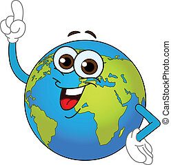 globo del mundo, caricatura