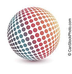 globo, vector., multicolor