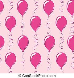 Globos de fiesta de fiesta rosa sin marcas