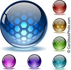 globos, resumen, colorido