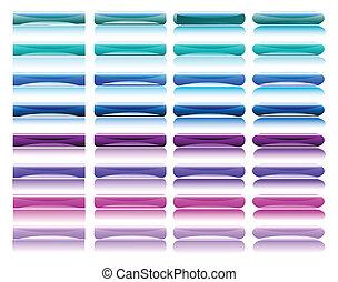 Gloriosos botones coloridos