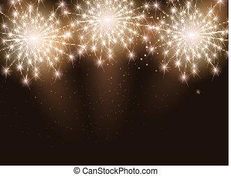 Glossy fuegos artificiales ilustración vectorial de fondo