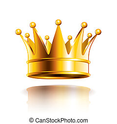 Glossy Golden Crown ilustración vectorial