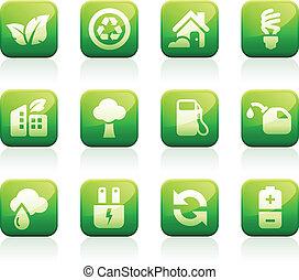 Glossy Green iconos