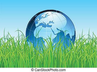 Glossy mapa de la Tierra