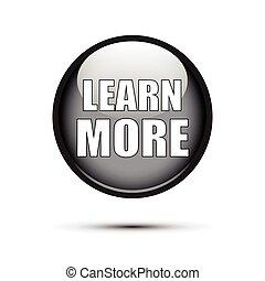 Glossy negra aprende más botones en blanco