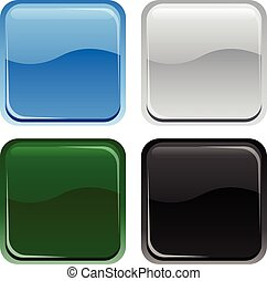 Glossy Web botones cuadrados