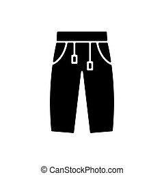 glyph, icono, negro, sweatpants