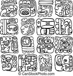 glyphs, maya