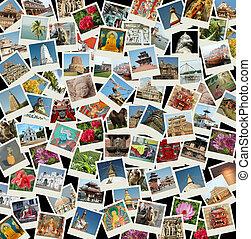 Go Asia - fondo con fotos de viajes de puntos de referencia del este
