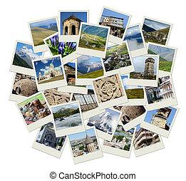 Go Georgia - Centro Asia Collage con fotos de puntos de referencia para y