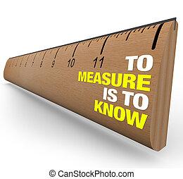 Gobernante, medir es conocer la importancia de la métrica