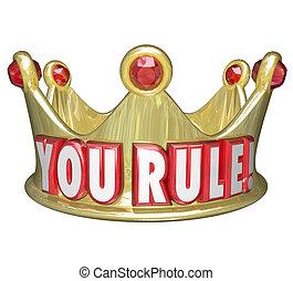 Gobernas coronas de oro palabras rey reina monarca superior soberano