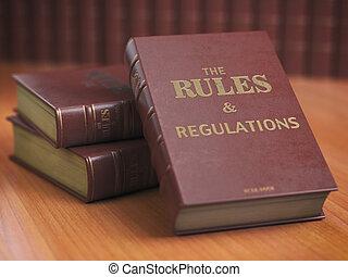 Gobierna un libro de reglamentos con instrucciones oficiales y direcciones de organización o equipo.