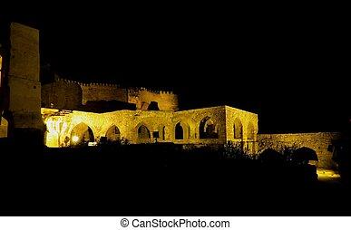 Golconda fort (vista nocturna), India