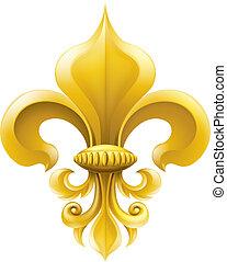 Golden fleur-de-lis ilustración
