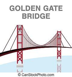 Golden Gate Puente San Francisco California vector