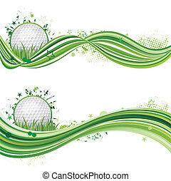 golf, deporte, elemento del diseño