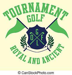 Golf equipo deportivo vector arte