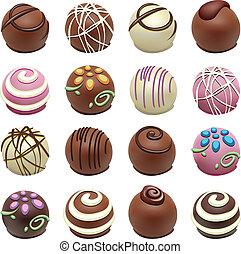 golosinas, vector, chocolate