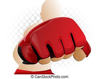 Golpe de guante MMA