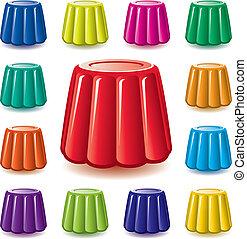 Goma de gelatina colorida Vector