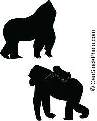 Gorilas silueta